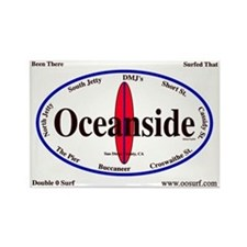 Oceanside Surf Spots Rectangle Magnet