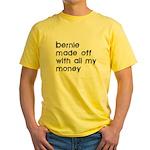 BERNIE MADOFF Yellow T-Shirt