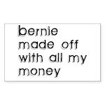 BERNIE MADOFF Rectangle Sticker 10 pk)