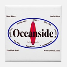 Oceanside Surf Spots Tile Coaster