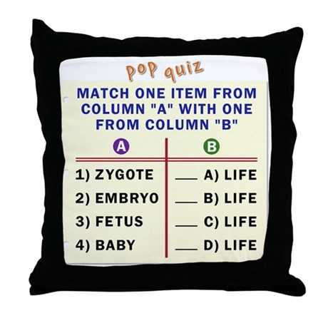 Matching quiz Throw Pillow