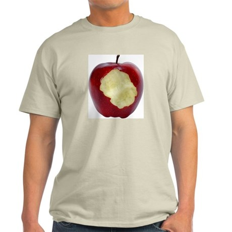 A Red Apple On Your Ash Grey T-Shirt