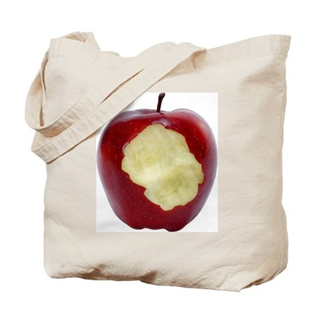 A Red Apple On Your Tote Bag