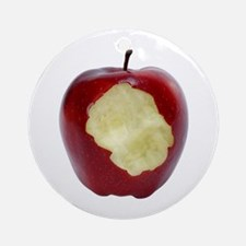 A Red Apple On Your Ornament (Round)
