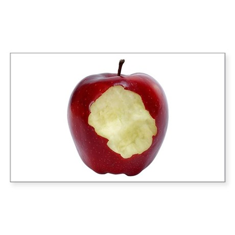 A Red Apple On Your Rectangle Sticker