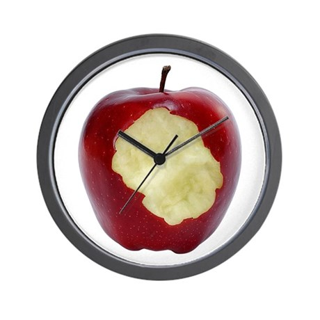A Red Apple On Your Wall Clock