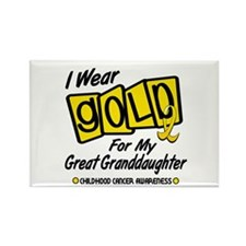 I Wear Gold For My Great Granddaughter 8 Rectangle