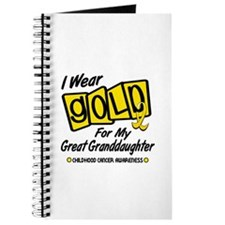 I Wear Gold For My Great Granddaughter 8 Journal