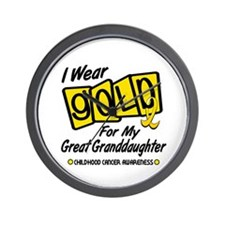 I Wear Gold For My Great Granddaughter 8 Wall Cloc