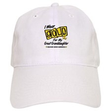 I Wear Gold For My Great Granddaughter 8 Baseball Cap