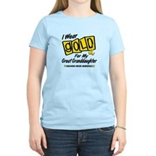 I Wear Gold For My Great Granddaughter 8 T-Shirt