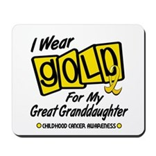 I Wear Gold For My Great Granddaughter 8 Mousepad