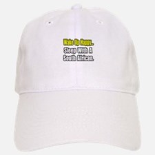 """Sleep w/ a South African"" Baseball Baseball Cap"