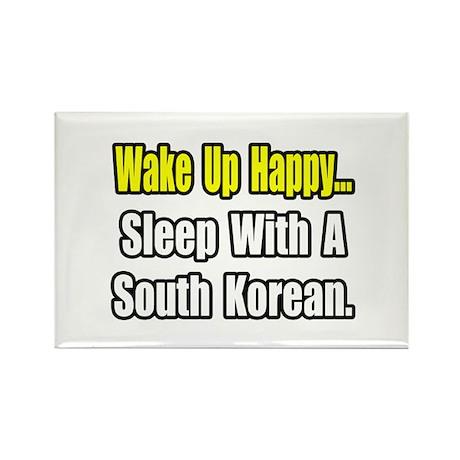 """Sleep w/ a South Korean"" Rectangle Magnet (10 pac"
