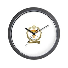 LOREAU Family Crest Wall Clock
