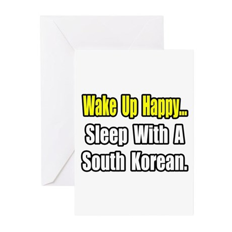 """Sleep w/ a South Korean"" Greeting Cards (Pk of 20"