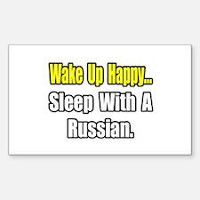 """...Sleep With a Russian"" Rectangle Sticker 50 pk"