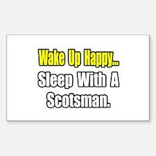 """Sleep With a Scotsman"" Rectangle Sticker 50 pk)"