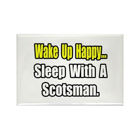 """Sleep With a Scotsman"" Rectangle Magnet (10 pack)"