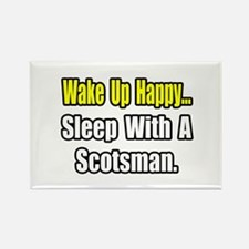 """""""Sleep With a Scotsman"""" Rectangle Magnet"""