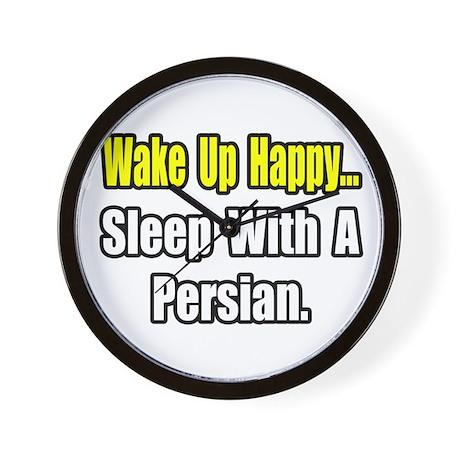 """...Sleep With a Persian"" Wall Clock"