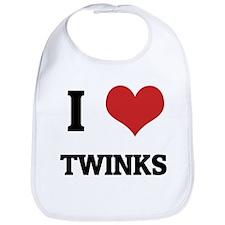 I Love Twinks Bib