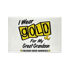 I Wear Gold For My Great Grandson 8 Rectangle Magn