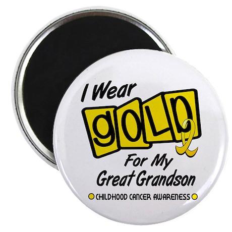 I Wear Gold For My Great Grandson 8 Magnet