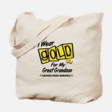 I Wear Gold For My Great Grandson 8 Tote Bag