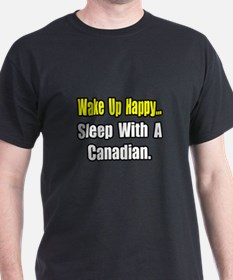 """..Sleep With a Canadian"" T-Shirt"