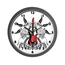 Grunge Guitar Wall Clock