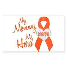 My Mommy My Hero 1 LEUKEMIA Rectangle Decal