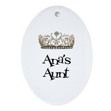 Ana's Aunt Oval Ornament