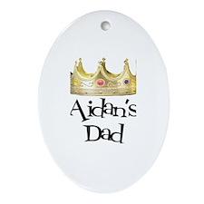 Aidan's Dad Oval Ornament