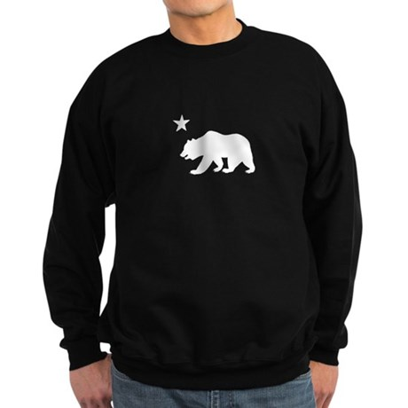 California Bear Flag (white) Sweatshirt (dark)