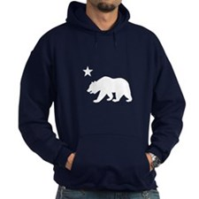 California Bear Flag (white) Hoodie