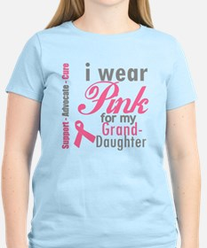 I Wear Pink Granddaughter T-Shirt