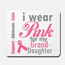 I Wear Pink Granddaughter Mousepad
