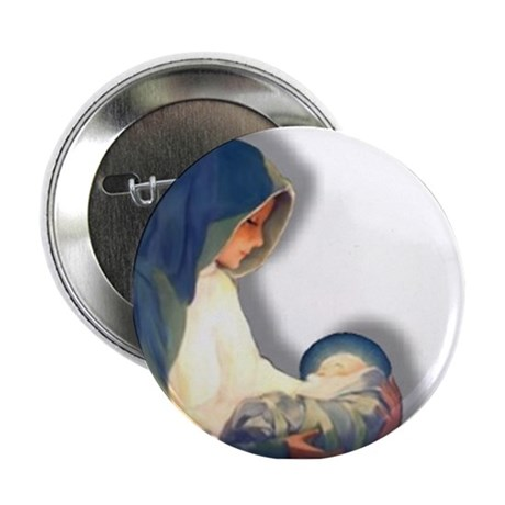 Mary & Child Button