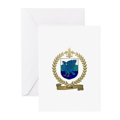 LUCAS Family Crest Greeting Cards (Pk of 10)