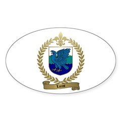 LUCAS Family Crest Oval Decal