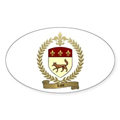 LUVE Family Crest Oval Decal