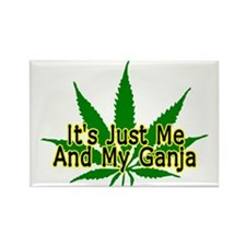 Me And My Ganja Rectangle Magnet