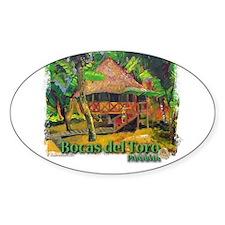 Bocas del Toro, Panama Oval Decal
