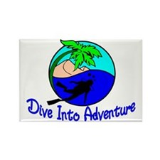Dive Into Adventure Rectangle Magnet
