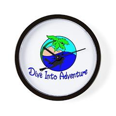 Dive Into Adventure Wall Clock