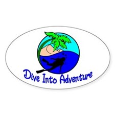 Dive Into Adventure Oval Decal
