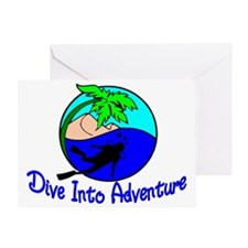 Dive Into Adventure Greeting Card