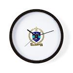 MALETT Family Crest Wall Clock