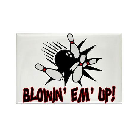Blowin' Em' Up Rectangle Magnet